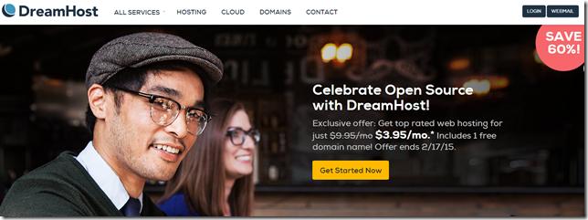 dreamhost 总统日4折优惠码2015
