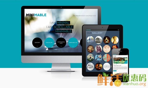 Minimable Scrolloable responsive one page theme